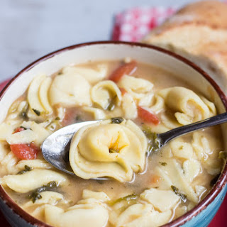 Crock Pot Cheese Tortellini Soup.