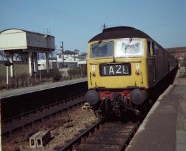 Photo: Up train arriving at Charlbury (1968)