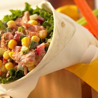 Salmon Salad Wraps.
