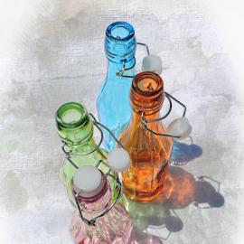 Topless by Melissa Davis - Digital Art Things ( bottled art, missysphotography, rainbow, colored bottles, bottle art )