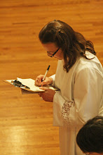 Photo: Michelle Boomgaard signs the Declaration of Intention