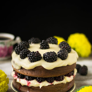 Blackberry Cream Cheese Cake