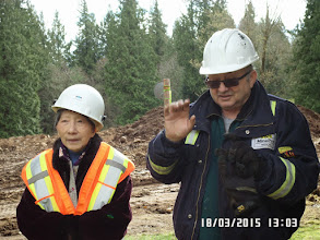 Photo: HELEN AND THE CONSTRUCTION SITE MANAGER MR. DENIS