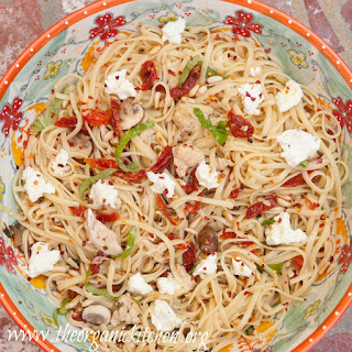 Linguini with Chicken and Goat Cheese