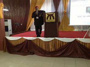 Photo: ISA President, Prof Nwauwa makes his opening remarks