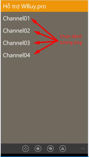 mở camera dahua theo từng kênh tương ứng