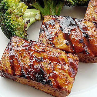 Smoky Grilled Tofu with Hoisin Sauce.