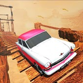 Cross the Bridge - Vintage Car Driving Game