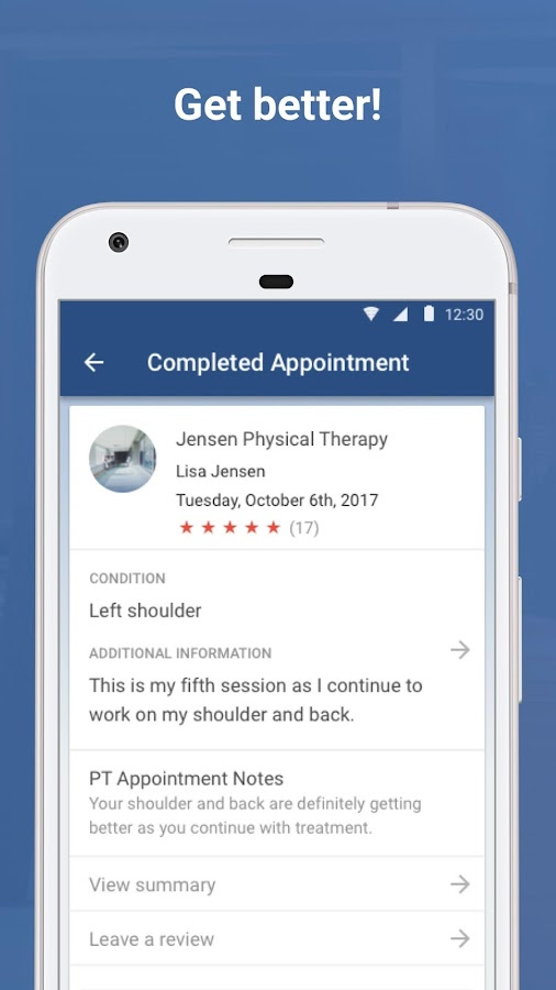 betterPT: Physical Therapy- screenshot