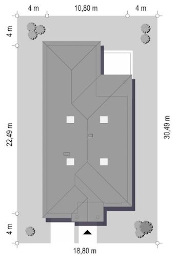 Dom na parkowej 7 A - Sytuacja
