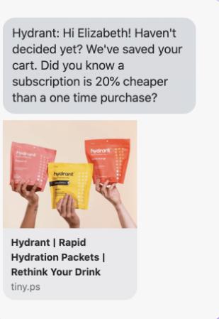 Hydrant: programme d'abonnement.