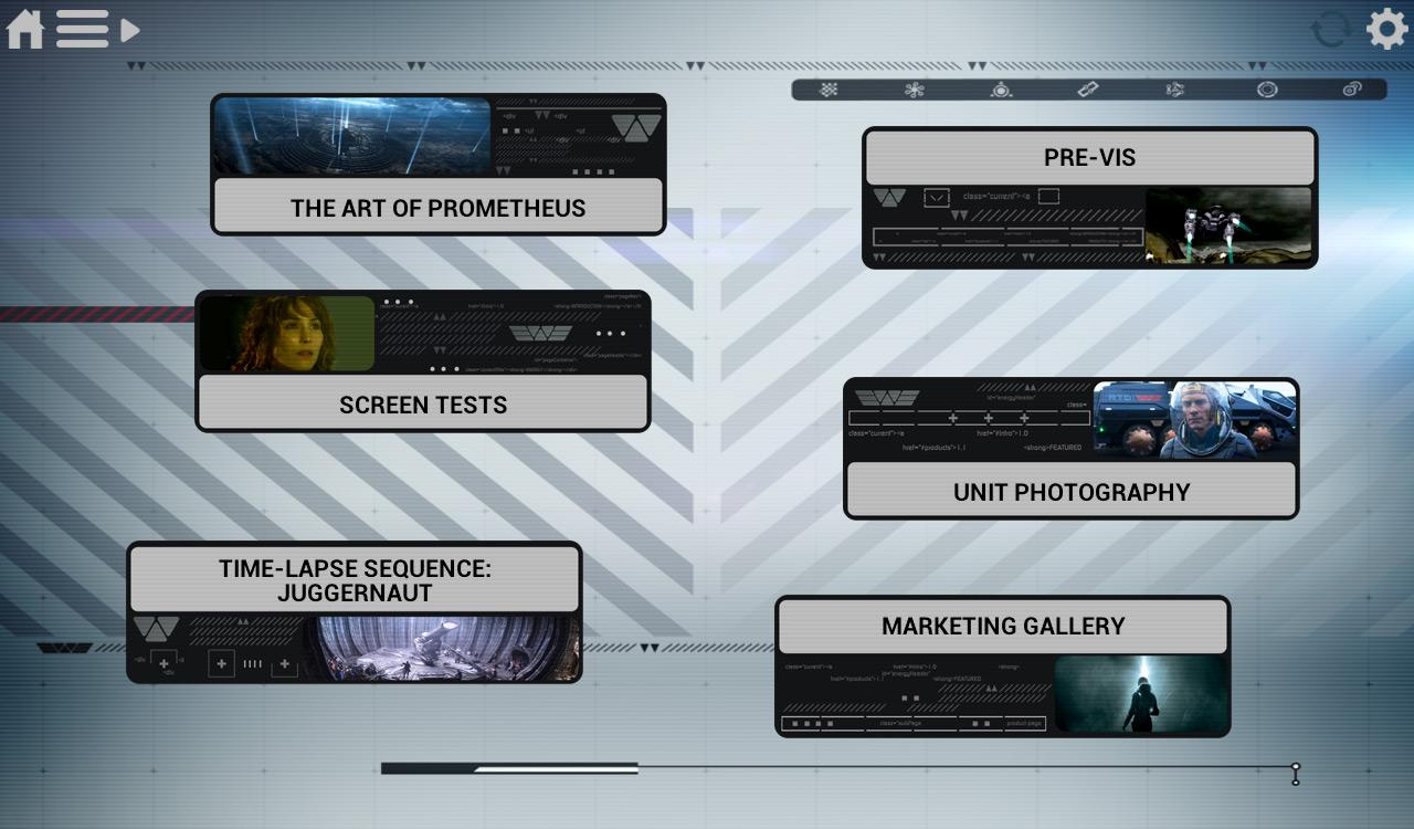 Prometheus Weyland Corp App- screenshot