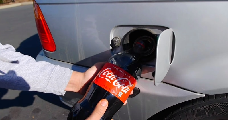Ever wondered what would happen if you filled your car up with Coca-Cola instead of gas?