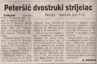 Photo: Glas Istre 13.9.1999. I ŽNL