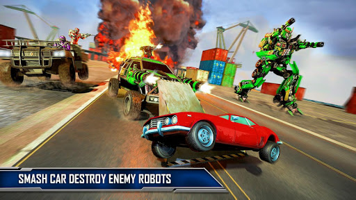 Ramp Car Robot Transforming Game: Robot Car Games screenshots 15