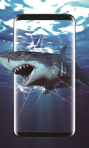 3d shark in the ocean live wallpaper screenshot 2