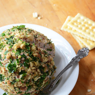 Cranberry-White Cheddar Cheese Ball with Fresh Rosemary