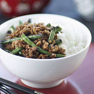 Spicy Pork and Green Bean Stir Fry.