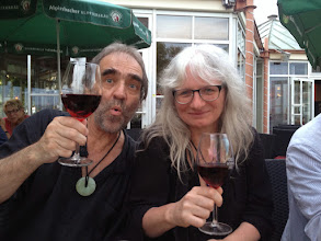 Photo: After the Summer School dinner down by Bodensee The happy couple drinking red wine