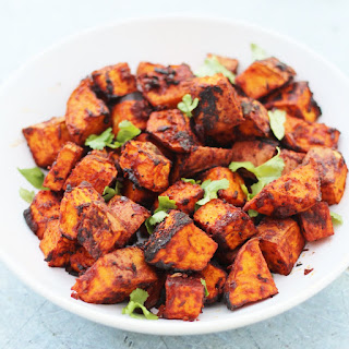 Mexican Roasted Sweet Potato Cubes.