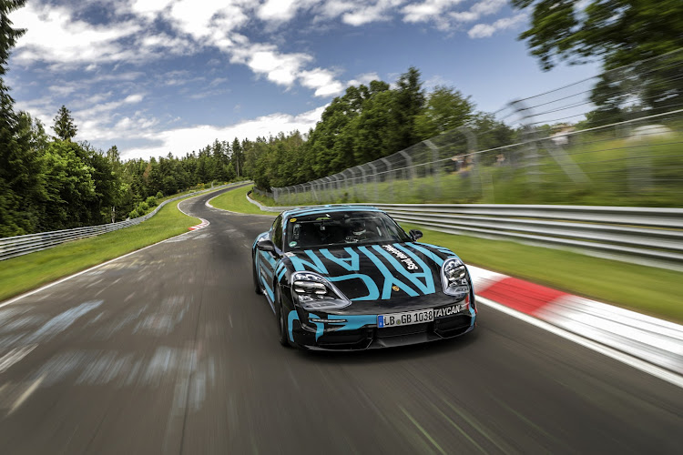 Porsche Taycan Sets Electric Car Lap Record