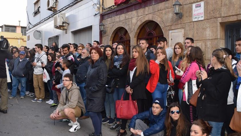 Todo el barrio de Los Molinos se desplazará al casco histórico esta tarde para arropar a su hermandad.
