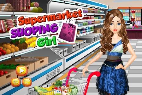 supermarket nákupní dívka - náhled