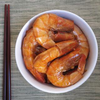 Garlic-Soy Shrimp.