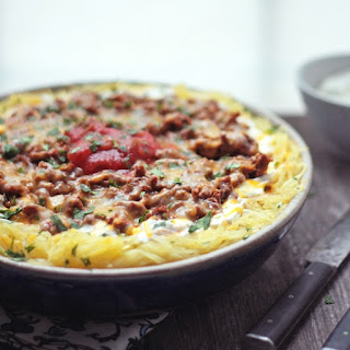 Cheesy Chili Spaghetti Squash Casserole – Low Carb and Gluten Free