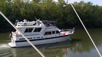 Photo: Laura on deck.