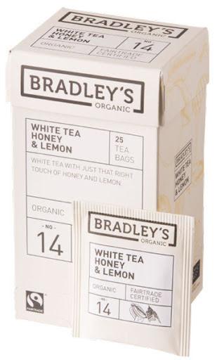 Vitt te smaksatt med citron och honung – Bradley´s