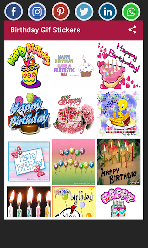 Screenshot for Birthday Gif Stickers in Hong Kong Play Store
