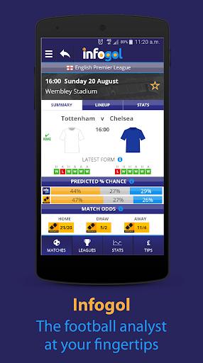 Infogol u2013 Football Scores & Betting Tips 1.0.22 Screenshots 1