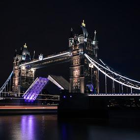 Tower Bridge by Augustin Galatanu - Buildings & Architecture Bridges & Suspended Structures ( pure, tower, london, pwc89: bridges, night, bridge,  )