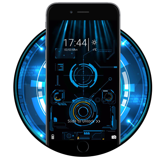 Neon Technology Halo Theme