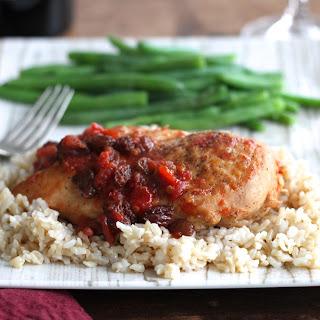 Chicken W/Sweet & Zesty Raisin Sauce