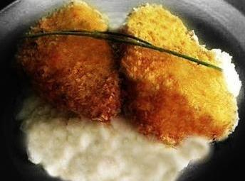 Herbed Breaded Chicken With Mashed Cauliflower Recipe