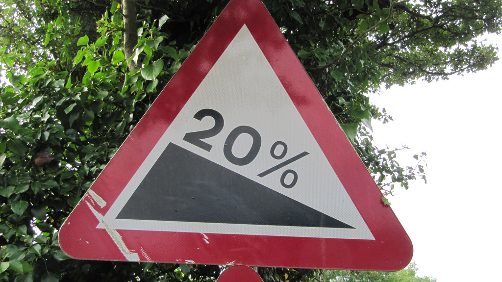 20% sign | Traffic sign warning of steep one in five/20% hil… | Flickr