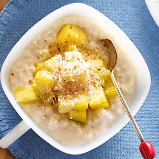 Coconut Rice Pudding With Pineapple And Mango