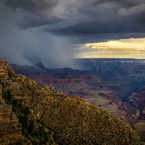 by Scott Wood - Landscapes Weather ( clouds, nps, lightning, sky, desert )
