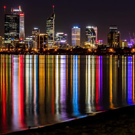 Perth by night by Shayne Sim - Buildings & Architecture Office Buildings & Hotels ( night, nightscape, cityscape, night lights, night photography,  )