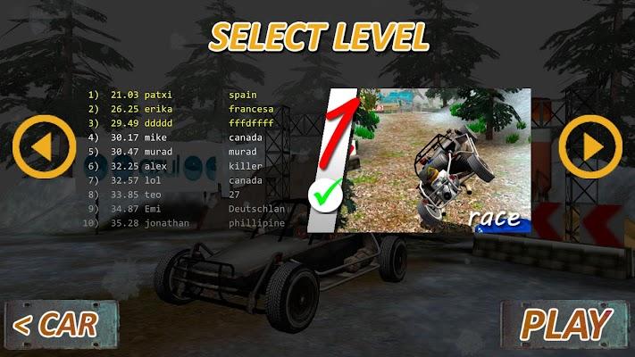 Car Crash Forest racing game - screenshot