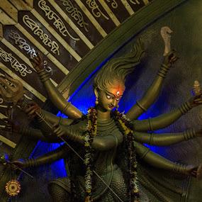 Godess Durga by Prabir Adhikary - Artistic Objects Other Objects ( devi, indian godess, devi durga, durga puja, durga,  )