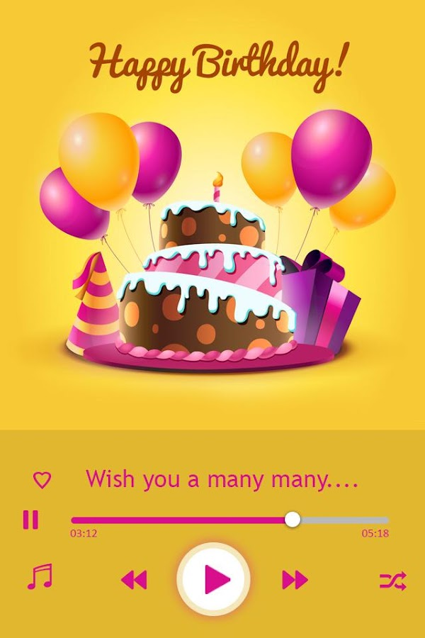 Lyric birthday song lyrics : Birthday Song with Name: B'day Wish - Android Apps on Google Play