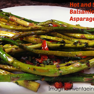 Hot & Spicy Balsamic Vinegar Asparagus