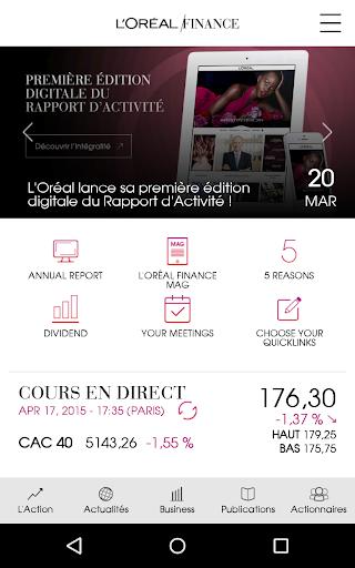 L'Oréal Finance investors