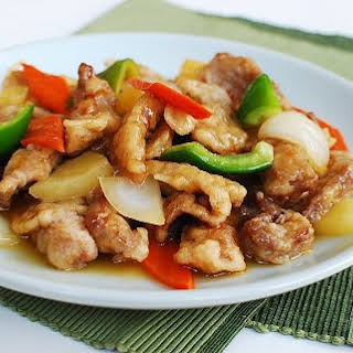 Tangsuyuk (Sweet and Sour Beef or Pork).