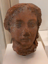 Photo: Terracotta head of Arsinoe, sister and wife of Ptolemy II of Egypt