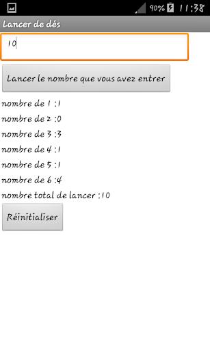 Lancer alu00e9atoire de du00e9s 1.0 screenshots 2