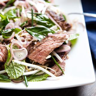 Thai-Style Marinated Flank Steak and Herb Salad.
